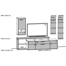 Gwinner Media Concept Kombination MC932 | MC932-SV | MC932K | MC932K-SV| MC937 | MC937-SV | MC937K | MC937K-SV