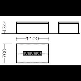 Hausmarke Light Line 3 Couchtisch 1405 0013