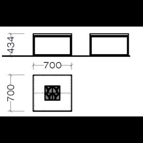 Hausmarke Light Line 3 Couchtisch 1406 0013