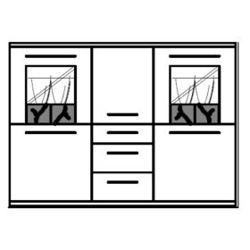 Hausmarke Light Line 3 Highboard 370
