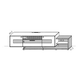 Gwinner Media Concept Spangenelement schwebend SP145 | SP145-SV