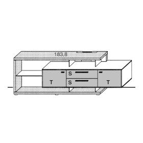 Gwinner Media Concept Spangenelement schwebend SP42 | SP42-SV | SK42 | SK42-SV