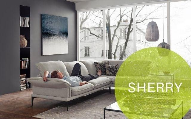 W.Schillig Sofa Sherry
